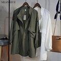 Mlanxeue mulheres cardigans mola solta blusão moda fina outwear jaqueta casaco coreano blusão da mulher sólida