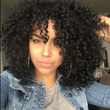 Hairstyle afro kinky cheap synthetic wig natural wigs curly long black