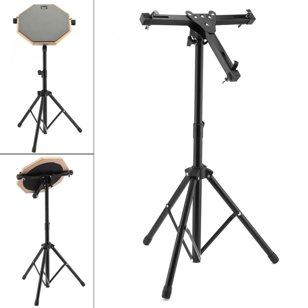 Aluminum Alloy Adjustment Foldable Three-legged Floor Drum Stand Holder Cymbal Stand For 10-12 Inch Dumb Drum