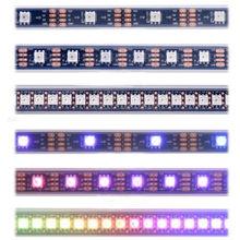 Tira esperta 30 do pixel do diodo emissor de luz de apa102 sk9822/60/144 leds/pixels/m ip30/ip65/ip67 dc5v apa102c 5050 smd rgb conduziu a tira 1 m/5 m