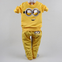 Minions Boys Clothes Suits 1 2 3 Years 2017 Boys Sport Suit Children Tracksuits Baby 2-Piece Set Cotton t shirt+pant suit
