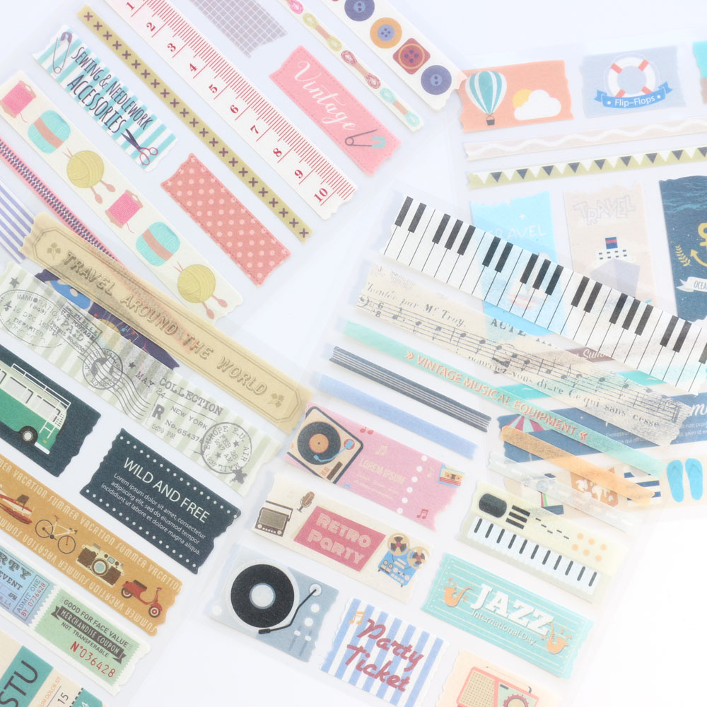 Domikee New Cute Cartoon School Diary Notebooks Decoration Stickers Stationery,kawaii Student DIY Art Paper Stickers