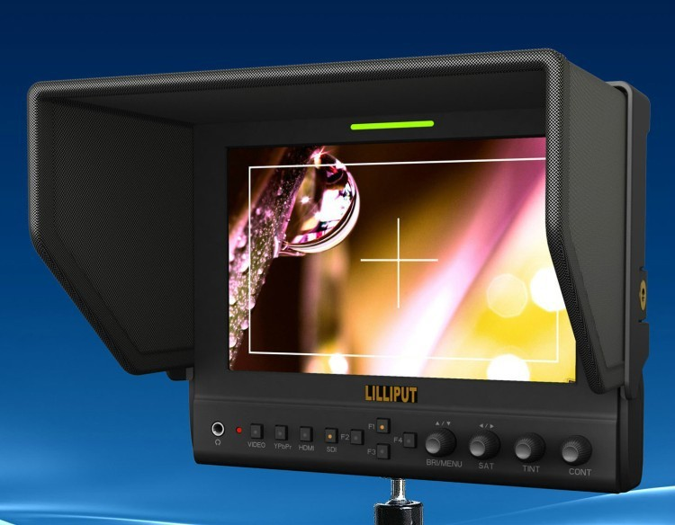 Lilliput 663/O/P2 With HMDI Output 7LED Monitor 1280x800 IPS 800:1 Contrast With Suit Case+Folding Sun Shade CoverLilliput 663/O/P2 With HMDI Output 7LED Monitor 1280x800 IPS 800:1 Contrast With Suit Case+Folding Sun Shade Cover