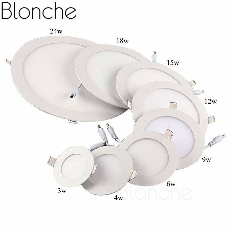 Blonche светодиодный потолочный светильник AC85~ 265 В панельный светильник круглый/квадратный 3W/6 Вт/9 Вт для гостиной спальни кухни Современный домашний декор светильник - Цвет корпуса: Round