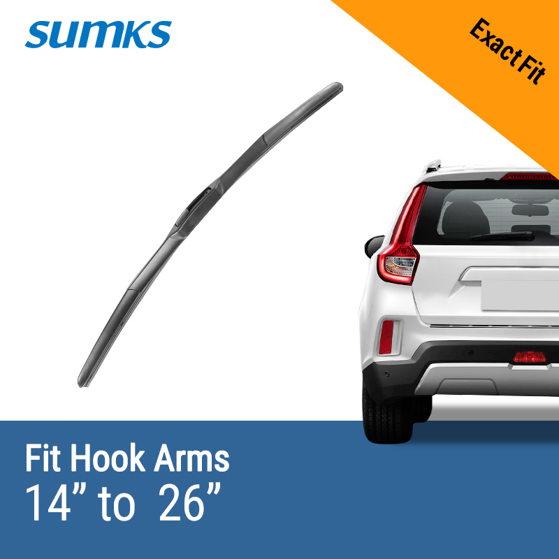 SUMKS Hybrid Wiper Blade Fit Hook Arms High Performance Aerodynamic Shape Strong Structure Auto Parts ( Pack Of 1 )(China)