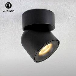 Aisilan Led montado en superficie de techo Downlight ajustable 90 grados luz del punto para interior vestíbulo habitación AC 90-260 V