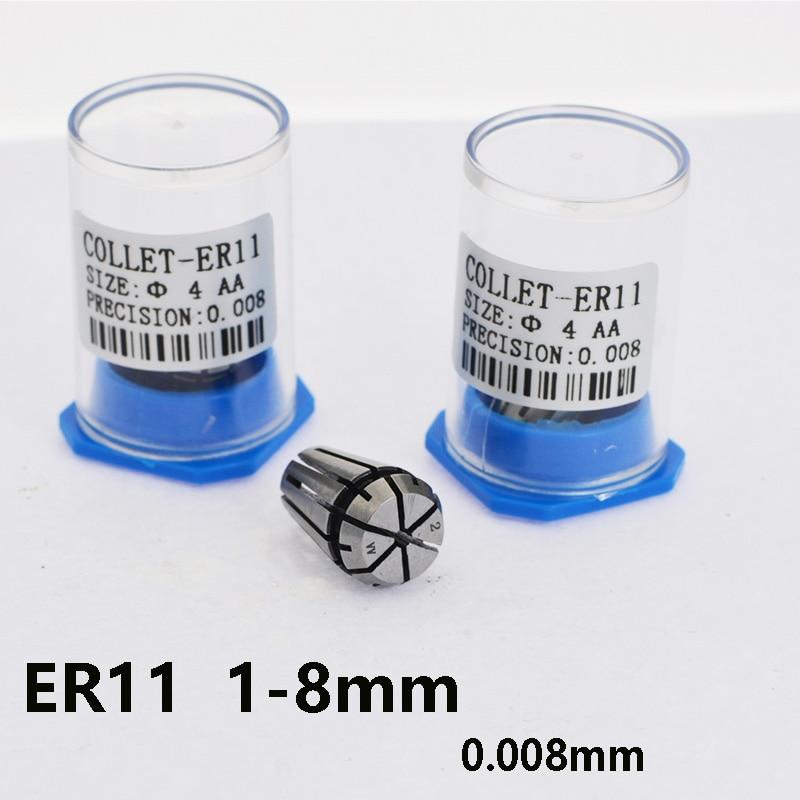 1pcs CNC ER11 1-8mm chuck precision 0.008mm tool handle milling cutter chuck