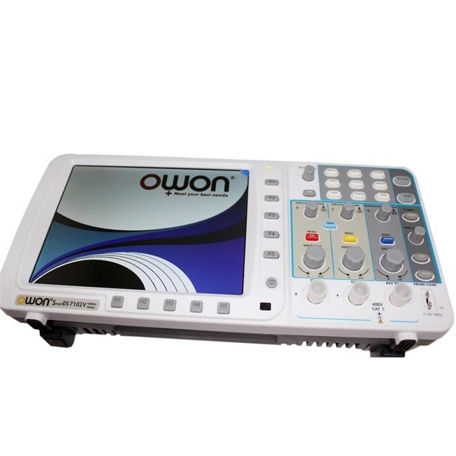 OWON новейший осциллограф OWON SDS7102 FFT 1 г/локон VGA бесплатное обновление прошивки США 3 года гарантии AKL77102