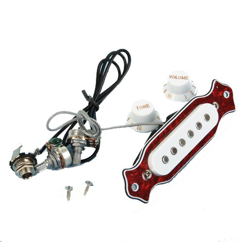 Wholesale 5X SYDS Single Coil Magnetic Acoustic Guitar Pickup 2pcs chrome guitar pickup lipstick tube pickup single coil