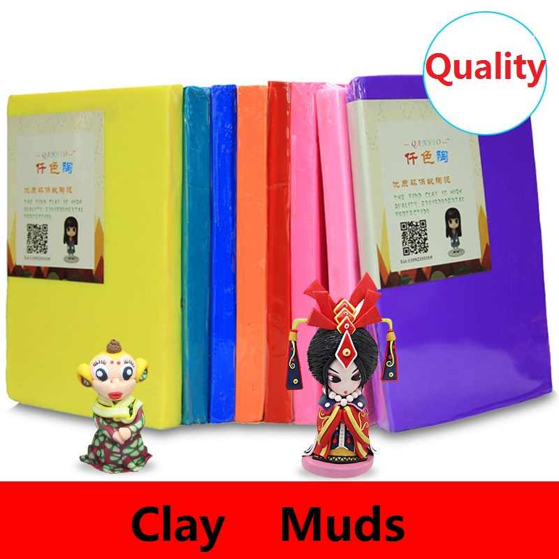 1Pcs 500g Professional Soft Clay Mud Sculpey Polymer Clay Pottery Sculpting Ceramic Colorful Professional Translucent Quality