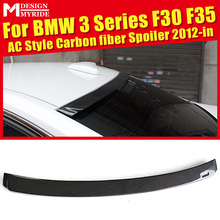 For BMW F30 F35 320i 325i 328i 330i 330d 335i 335d 335xD AC Style Carbon Fiber Rear Roof Spoiler car styling Accessories 2012-18