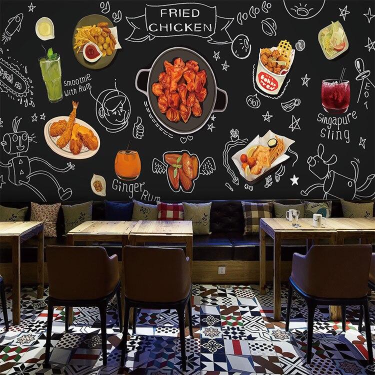 Popular chicken wallpaper buy cheap chicken wallpaper lots for Bar mural cuisine