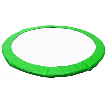 Green Color Trampoline Replacement, Safety Pad (PVC Waterproof Spring Cover) For 6/8/10/12/13/14/15/16 Feet Trampoline