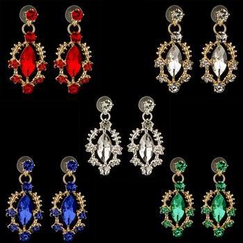 Wedding Crown Queen Bridal Tiara Bridal With Earring Luxury Rhinestone Headband Diadem Bride Hair Jewelry Ornaments 5