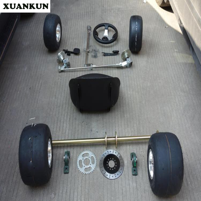 XUANKUN 168 Karting Parts Modified Four-Wheel Front And Rear Suspension Before The Rear Axle Assembly 5-Inch Tires xuankun hj125t 10 hj125 10a hj125t 10e the front cover of the motorcycle before and after the shield