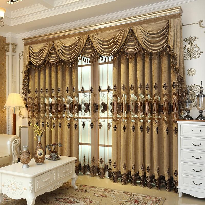 Europa sfeer gordijnen, woonkamer vloer tot plafond decoratie stof, - Thuis textiel
