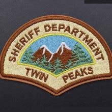 Высокое качество Sheriff Department Твин Пикс клеящиеся утюгом украшения нашивки для одежды наклейки одежды оптом