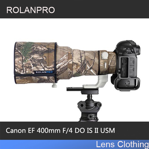 ROLANPRO Lens Camouflage Rain Cover for Canon EF 400mm F4 DO IS II USM Lens SLR Protective Case Camera Lens Protection Sleeve rolanpro lens clothing camouflage rain cover canon ef 70 200mm f2 8 l is ii usm lens protection sleeve guns case dslr bag canon
