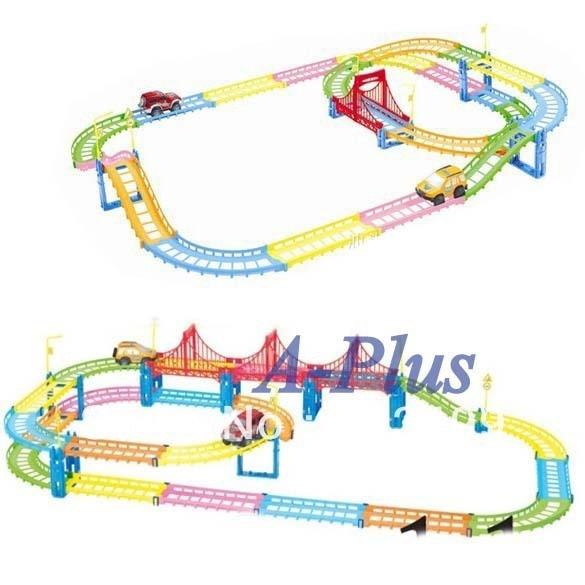 Fancy Urban Rail Fairyland Electric car Toys, Children's Educational toys 8507