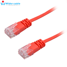 5ft Red RJ45 to Flat CAT 6 4 Pairs Copper UTP Ethernet Lan Cable