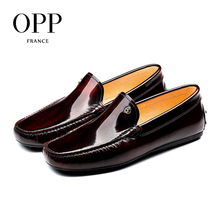OPP Comfortable Driver Shoes For Men 2017 Genuine Leather moccasins Summer Mens Cow Casual Lace-Up Loafers