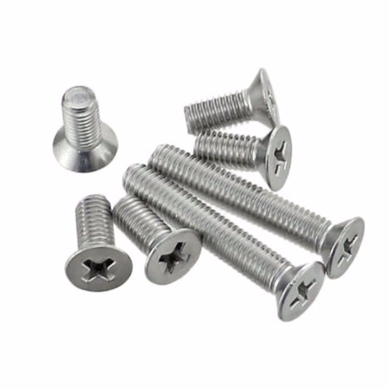 50Pcs M2 M2.5 M3 M4 304 Stainless Steel Machine Screws Flat Head Screw 50pcs m2 m2 5 m3 m4 iso7045 din7985 gb818 304 stainless steel cross recessed pan head screws phillips screws hw002
