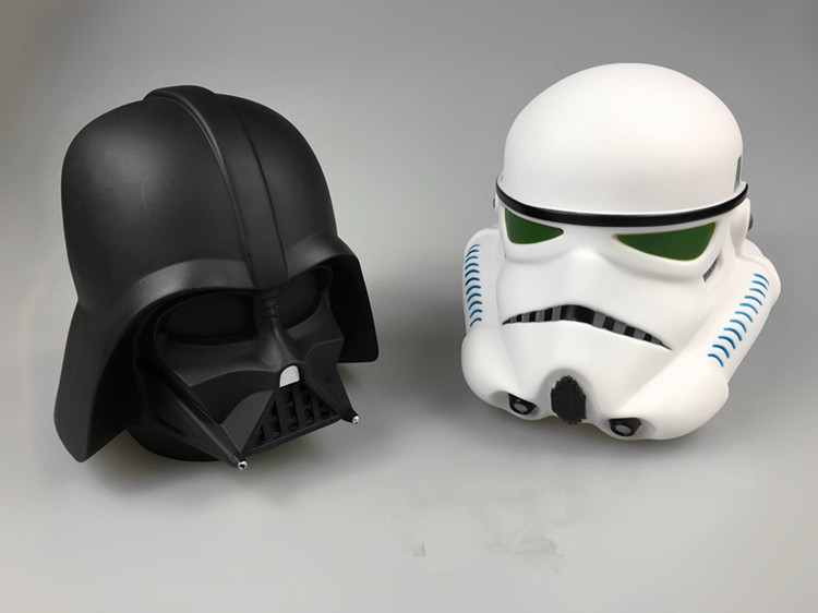 Coin Bank Darth Vader Stormtrooper Piggy Bank Money Saving Box Figure Toy Kids Gift 13cm Black and Whiter Stormtrooper