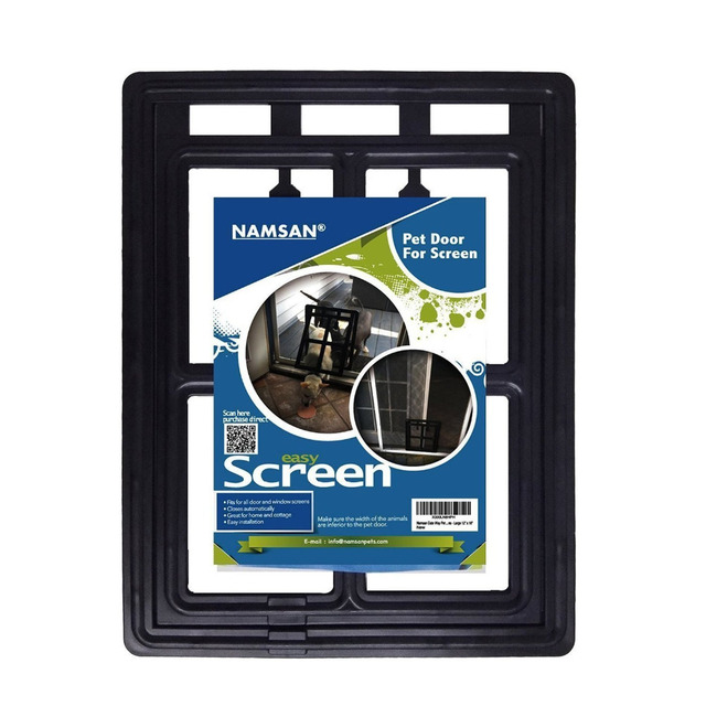 Namsan Magnetic Dog Gate Way Pet Door for Screens Lockable Pet Cat Small Large Dog Flap Safe Door New Safe Quality Small Large
