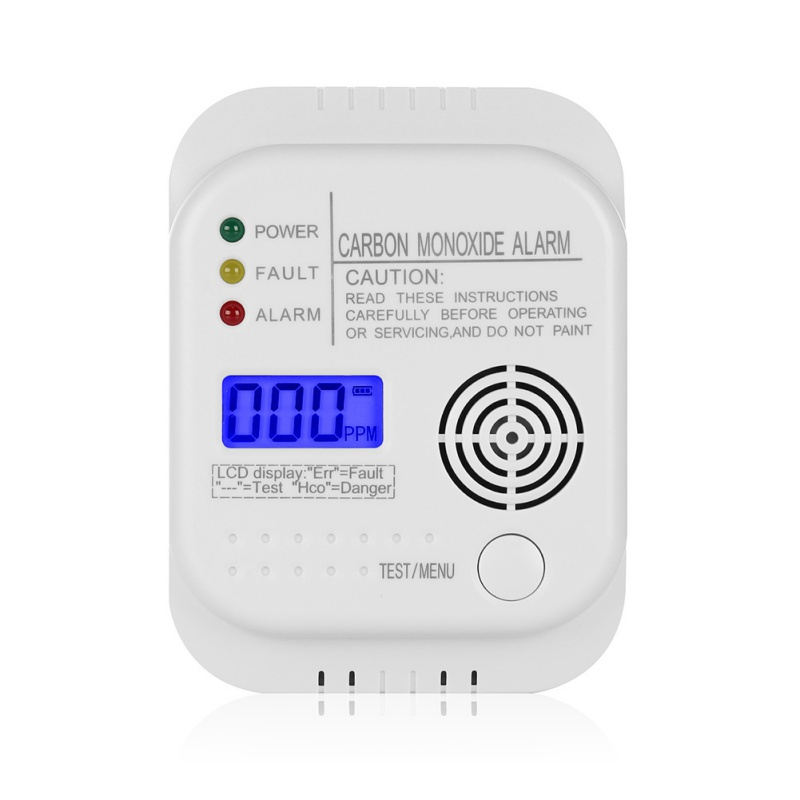 CO Carbon Monoxide Detector Detector Alarm Alarm Sensor For Home Security Warns Both Acoustically And Optically