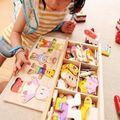 4 Видов Детские Деревянные Игрушки Деревянные Одеваться Медведь Туалетный Головоломки Дети Платье Изменение Развивающие Монтессори Игрушки Ребенок Подарок