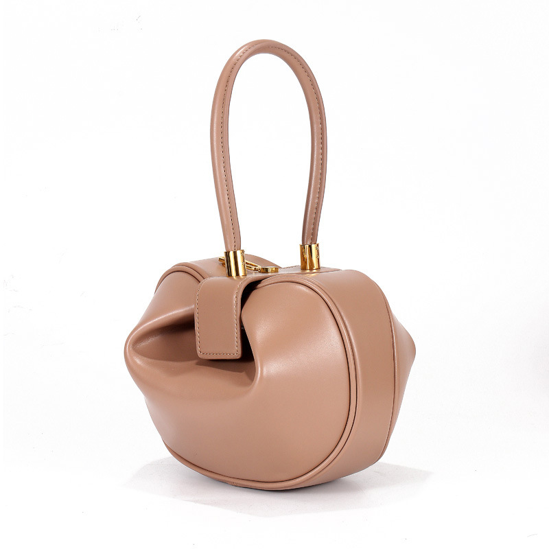Miyahouse New Fashion Genuine Leather Bell Shape Bag Women Luxury Dumpling Top handle Bag Lady Bell