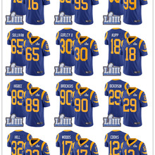 bd68bbaed8d 2019 Super Rams Bowl Los Angeles Jersey 30 Todd Gurley II 99 Aaron Donald  18 Cooper Kupp 12 Brandin Cooks Stitched Jerseys