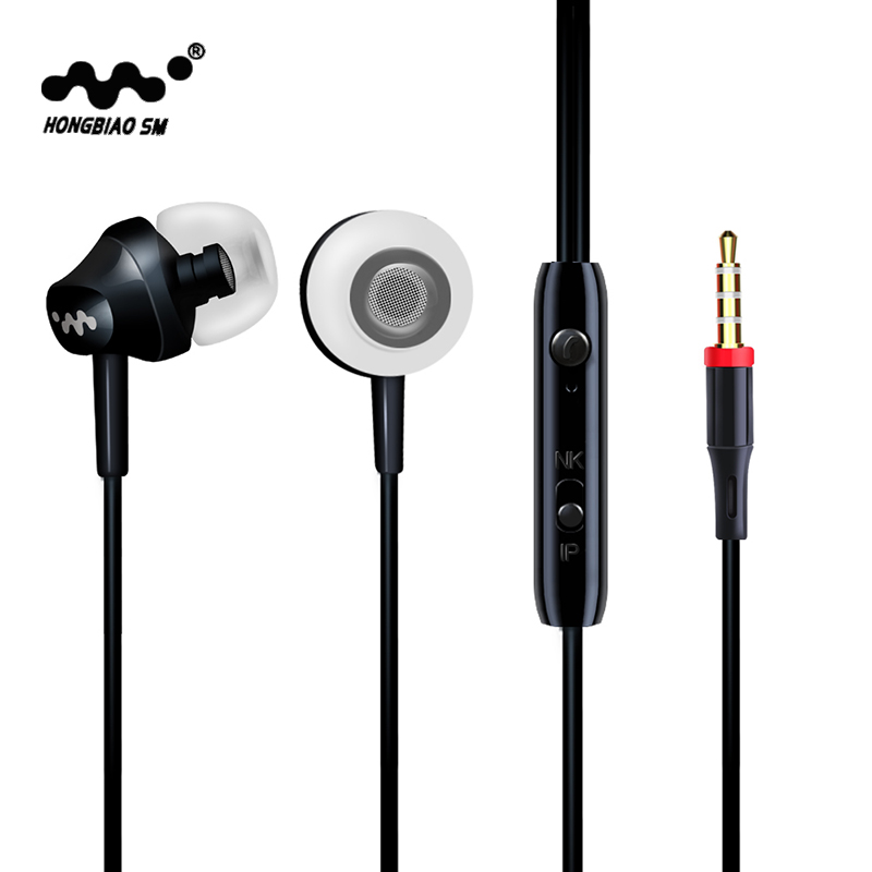 HONGBIAO SM M8 Heavy Bass In-Ear Earphones Music Headset with Mic 3.5mm Qulity Earbud Earphones For iPhone Samsung Sony HTC Mp3 flat stereo in ear earphones w mic clip for iphone htc samsung black white 3 5mm plug