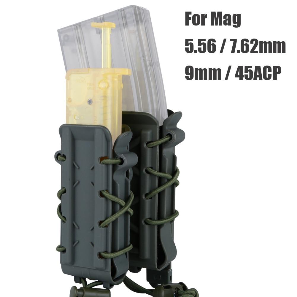 Trava de Cinto para Pistola Conjunto de Coldre de Airsoft Tático para Rifle Molle 5.56 7.62 9mm