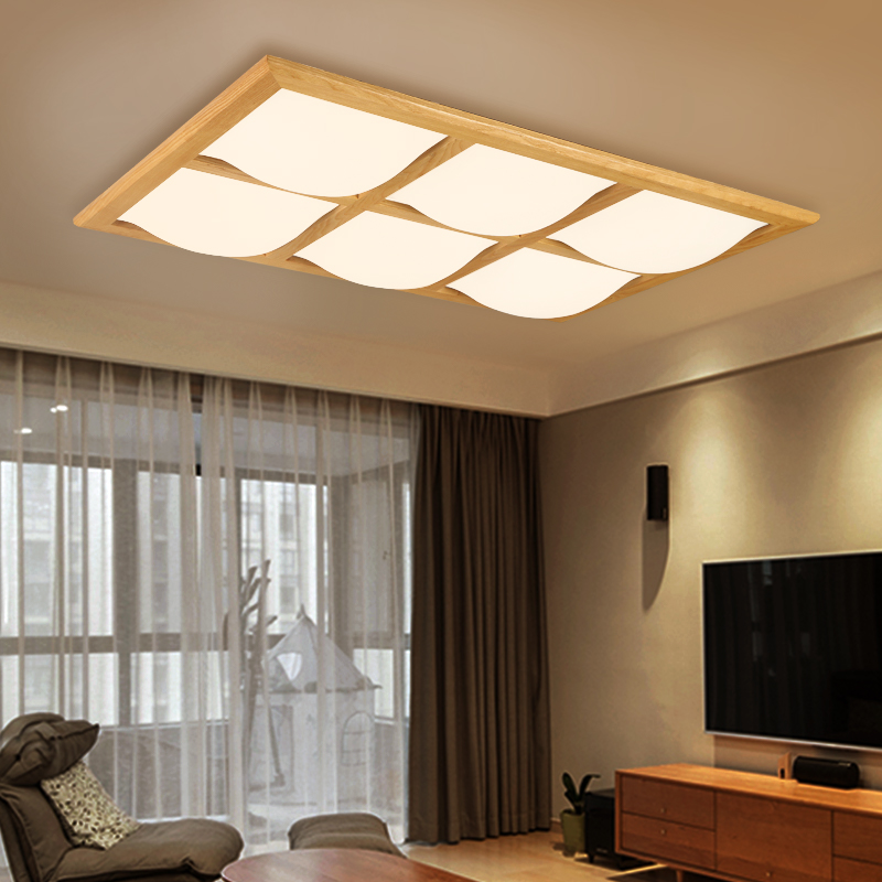 Wooden Modern led ceiling lights for living room bedroom luminaria de teto Creative Wood Ceiling lamp Simple style ceiling lamp