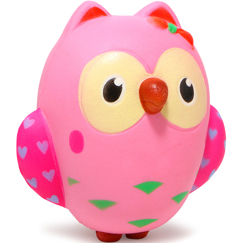 squish antistress Cute Owl Squishy Slow Rising Cream Scented Squeeze Toys Original Packaging Children toy gift anti stress ZJD vlampo squishy layer birthday cake slow rising o riginal packaging box gift collection decor toy for children kids