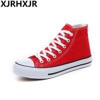 XJRHXJR Brand Big Size 35 44 Summer Sneakers Flat Canvas Shoes Women Casual Shoes Female Fashion