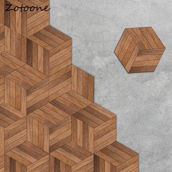 ZOTOONE 10 шт. креативные деревянные зерна настенные наклейки s модный шестигранный кухонный пол наклейки настенные наклейки для гостиной украш...