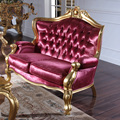 Fashion pink drilling cowhide U sofa luxury set sofa Europe style classical furniture for home - luxury furniture brands