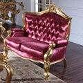 Moda de rosa de couro l sofá de luxo sofá europa estilo clássico de mobiliário móveis para casa de luxo