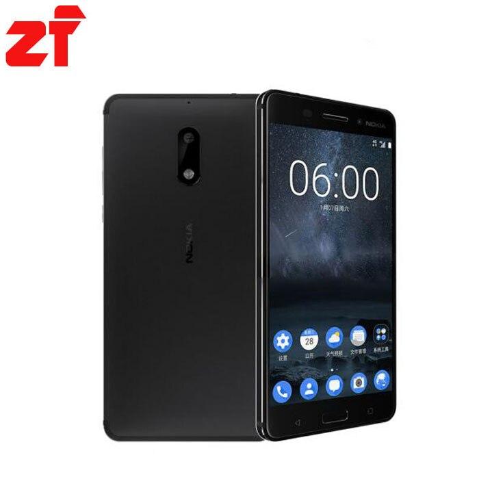 bilder für Neue Heiße Original Nokia 6 LTE 4G Handy Android 7 Qualcomm Octa Core 5,5 ''Fingerabdruck 4G RAM 64G ROM 3000 mAh 16MP Nokia6