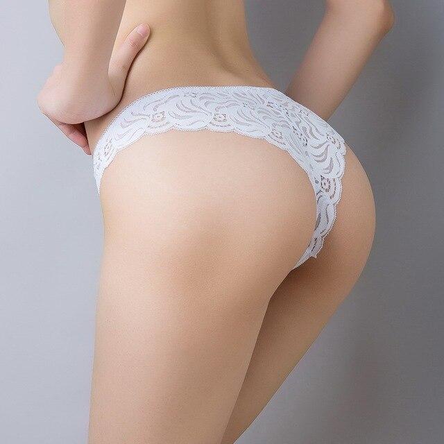 e6cac80feba Hot Women Sexy Lingerie Underwear Women Lace Bikini Briefs Panties French  Cut Style Big Size Tanga