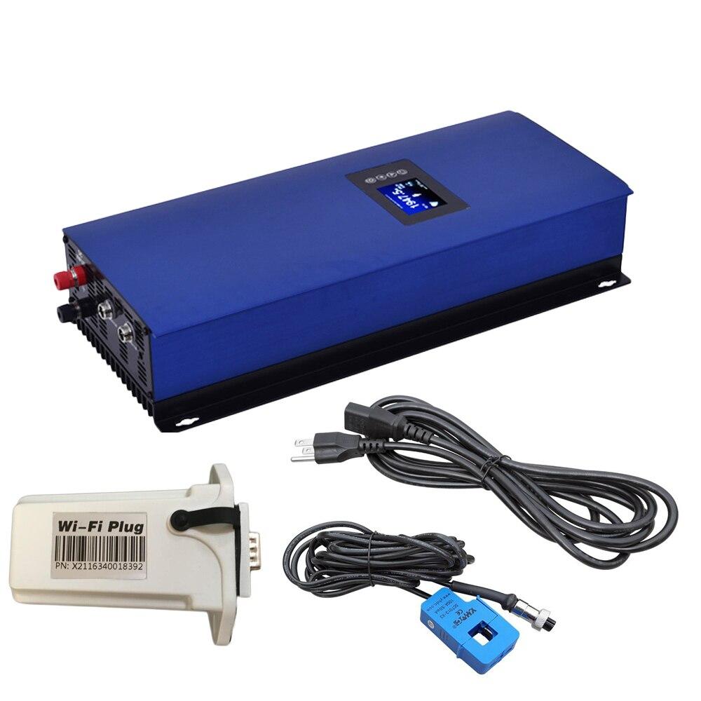 2000W MPPT Pure Sine Wave Solar Grid Tie Inverter with internal Limiter Battery discharge mode DC45-90V to AC230V