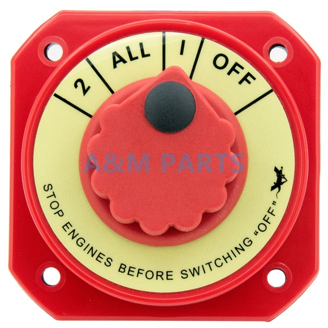 marine battery switch selector 4 position power dual battery