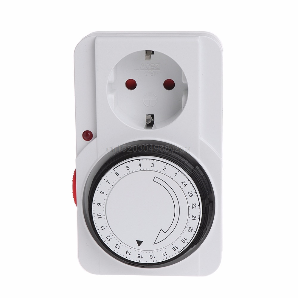 24H Mechanical Electrical EU Plug Program Timer Power Switch Socket Energy Saver J16 dropshipping