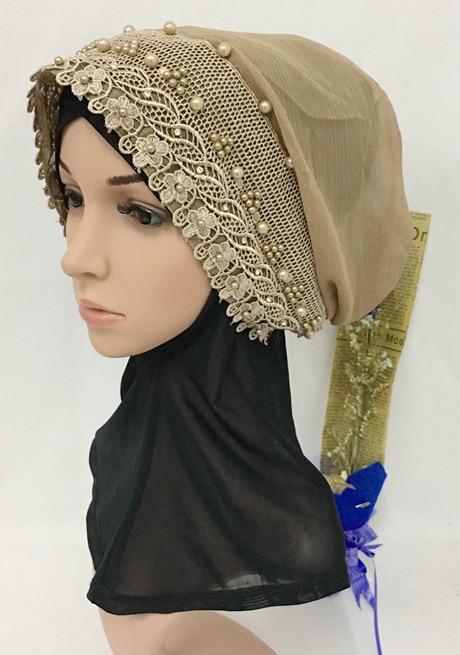 New Muslim Islamic Underscarf Floral Arab Headwear Inner Hijab Flowers