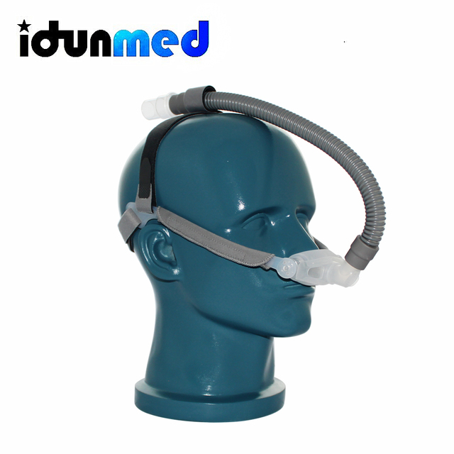 CPAP Mask Nasal Pillows Mask Respirator With Size 3 Sizes Cushions Strap Small Tubing For Sleep Apnea Anti Snoring Solution 2