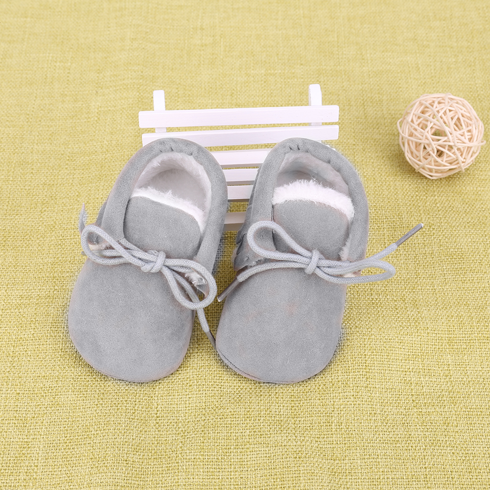 Baby Shoes PU Suede Leather Newborn Baby Boy Girl Moccasin Soft Moccs Shoes Fringe Tassel Soled Non-slip Footwear Crib Shoes