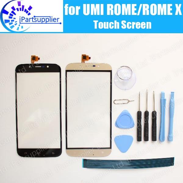 UMI Roma Roma X Painel Touch Screen 100% de Garantia Original de Vidro Da Tela De Toque Do Painel de Vidro de Substituição para ROMA X + ferramentas + Adesivo