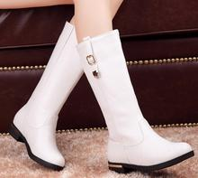 new women Snow Martin Boots Knee Long Shoes For Women Casual Buckle shoes boots Over Hidden Wedges Winter